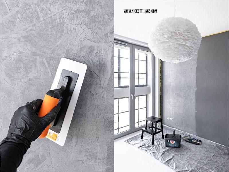 Alpina Beton-Optik: Wand in Betonoptik streichen – Nicest Things