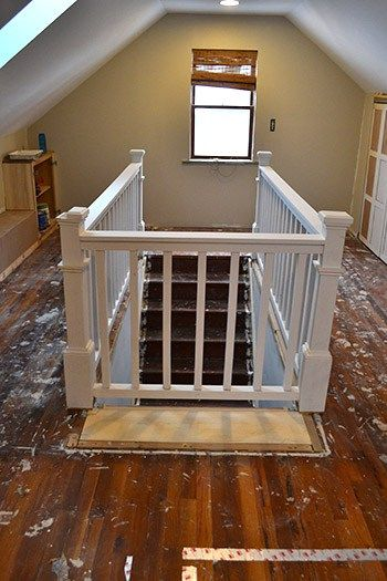 How To Build Stair Banister Elliot S Room Attic Rooms