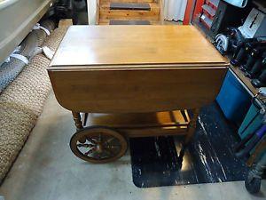 Vintage Kling Colonial Ethan Allen Drop Leaf Serving Cart Tea Server New England Style Ethan Allen Tea Server
