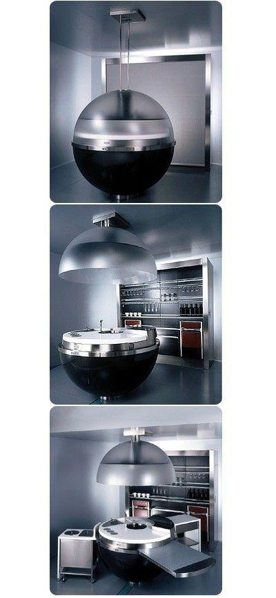 Futuristic Kitchen Wow This One Is Seriously Weird Cocinas - Cocinas-futuristas