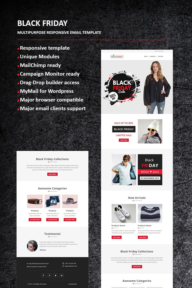 Black Friday Email Newsletter Template New Website Templates