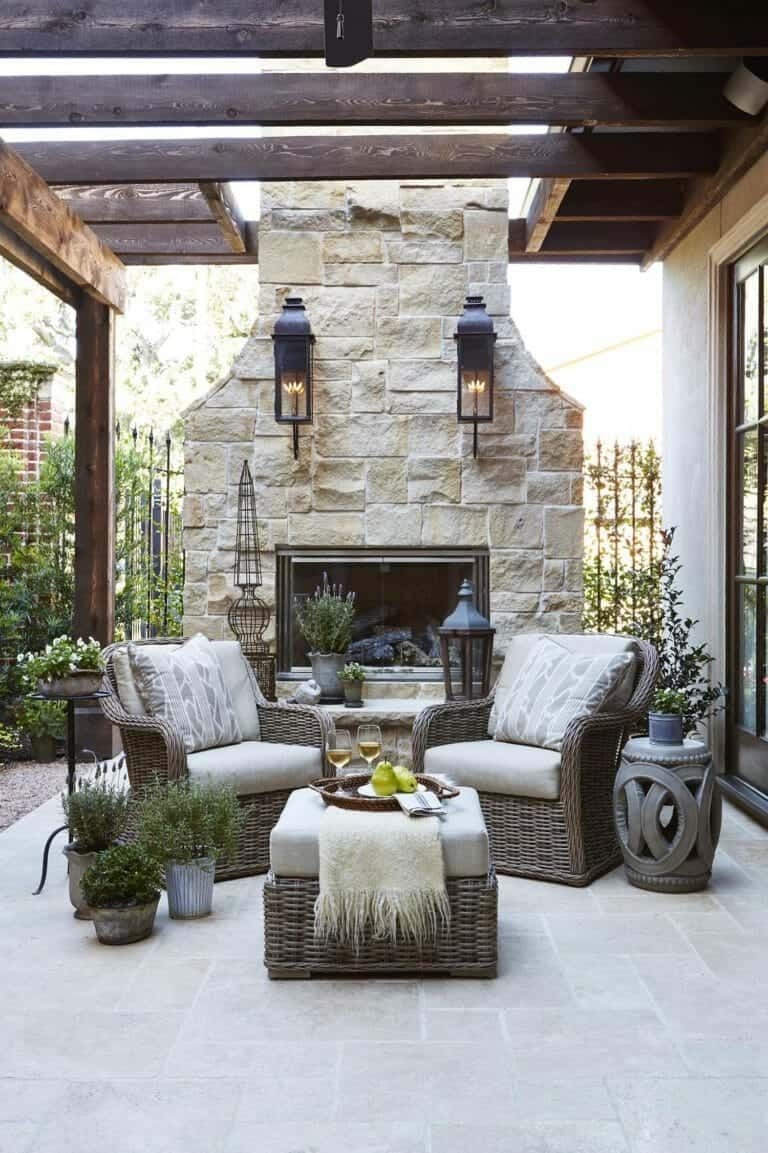 30 Irresistible Outdoor Fireplace Ideas That Will Leave You Awe Struck In 2021 Outdoor Stone Fireplaces Outdoor Fireplace Designs Outdoor Living Space Design