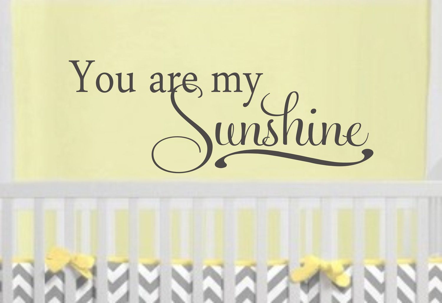 You are my Sunshine Childrens Decor Vinyl Lettering - Vinyl Decal ...