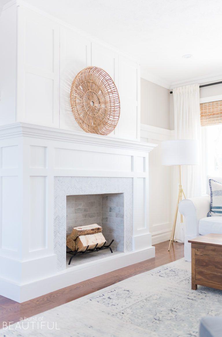 classic craftsman style fireplace with hidden tv diy home decor rh pinterest com