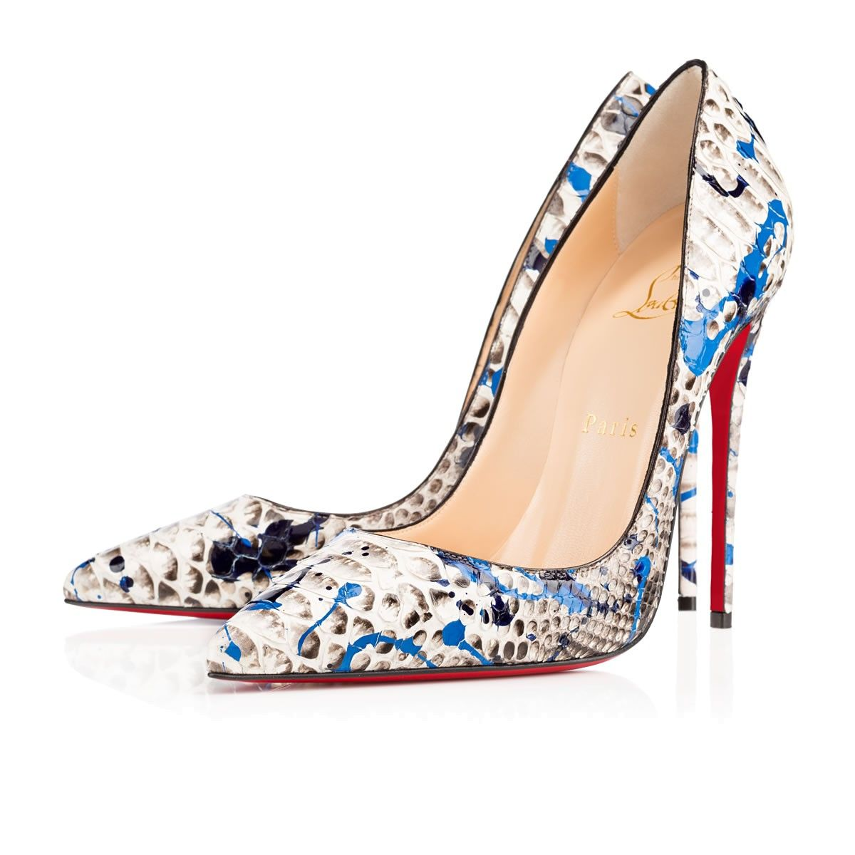 Christian Louboutin Spring/Summer So Kate python vulcano pumps