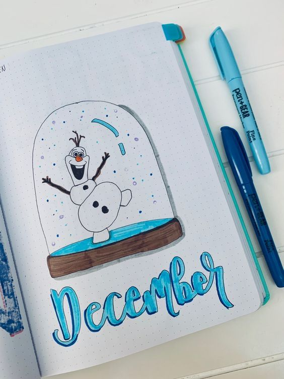 58 Stunning December Bullet Journal Cover Page Ideas