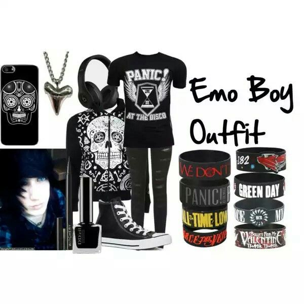 Emo Boy Outfit Polyvore Wear What You Want To Wear Nobody Judges Here Pinterest Emo
