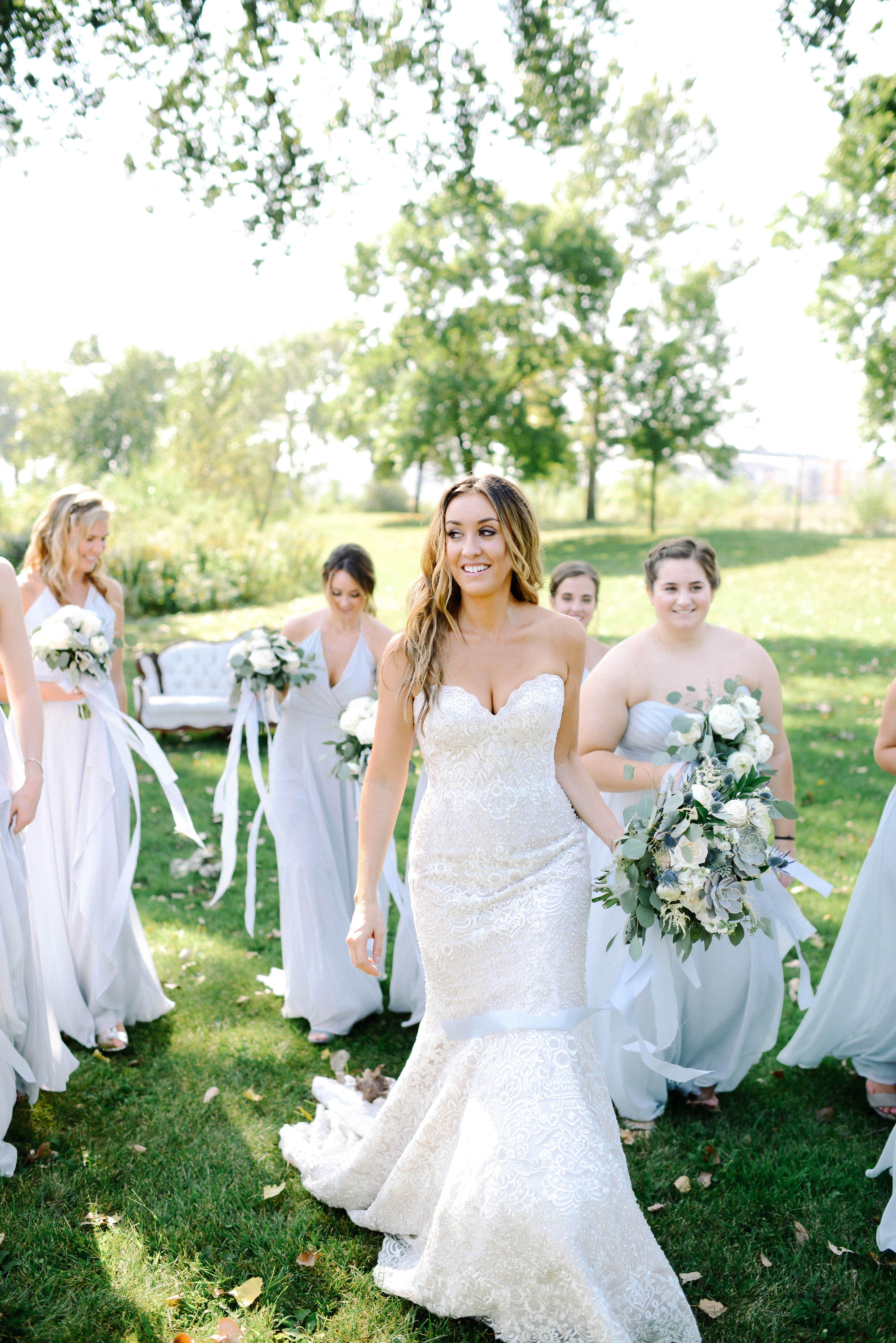 Mn September Wedding Light Blue Bridesmaids Dresses Modern Clic Bribe Weddingphotography Bride