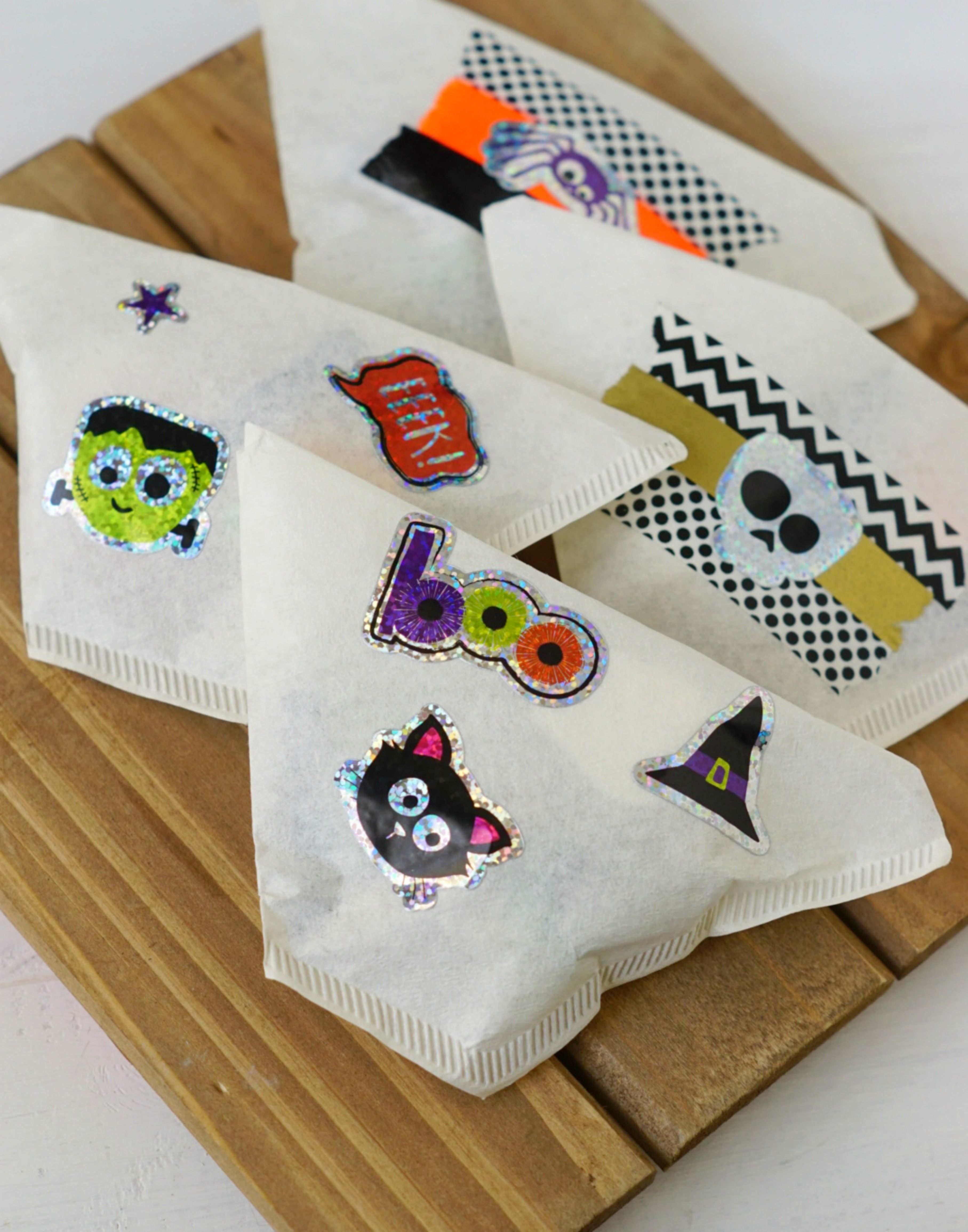 Coffee Filter Halloween Treat Bags + Non Candy Halloween