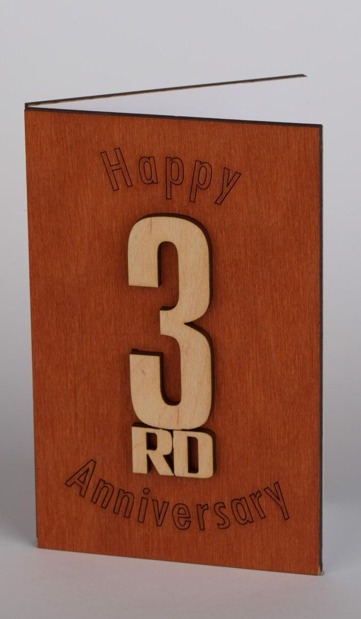 3rd Anniversary Card 3rd Anniversary 3rd Anniversary