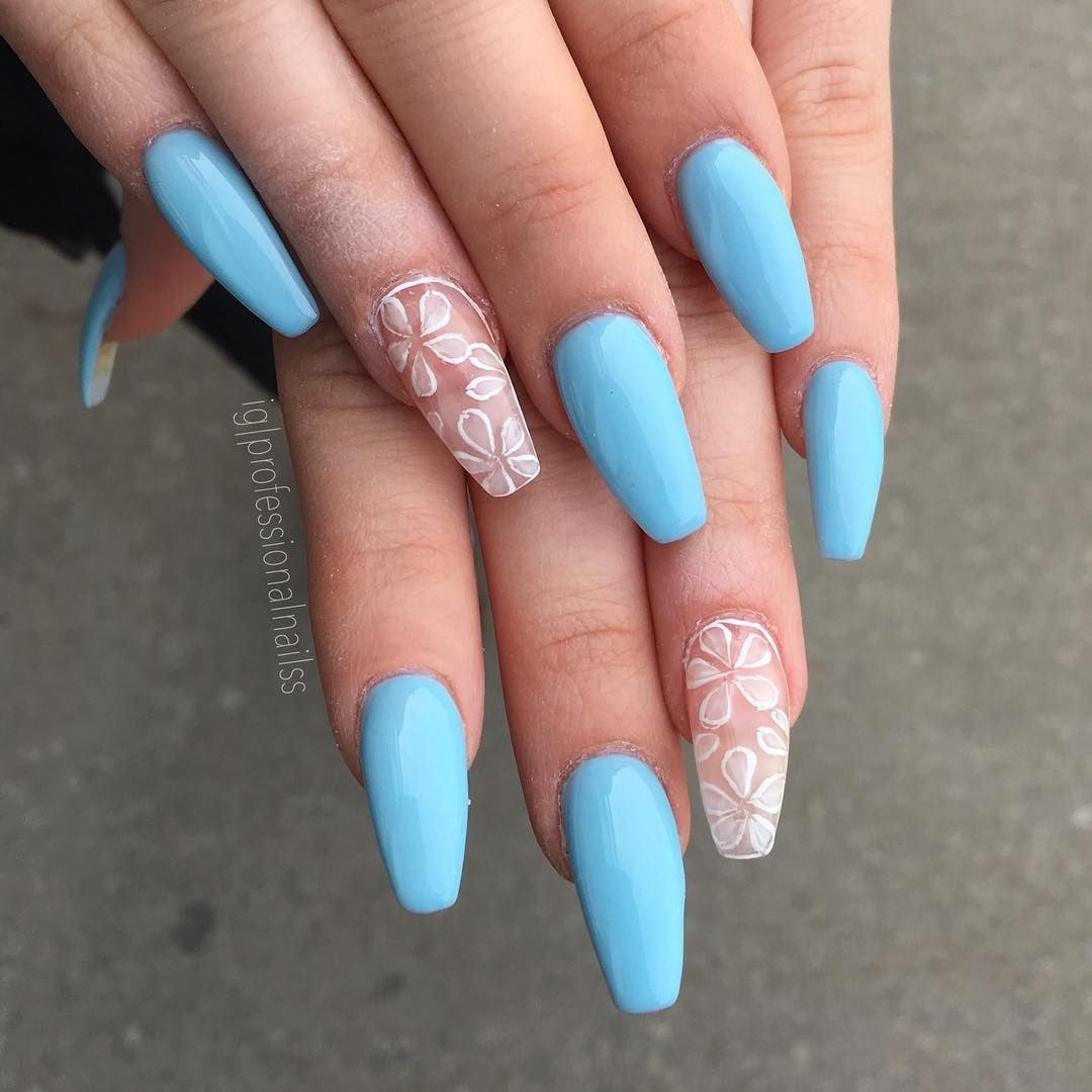 55 Beautiful Summer Coffin Nails Easy To Copy Coffin Nails