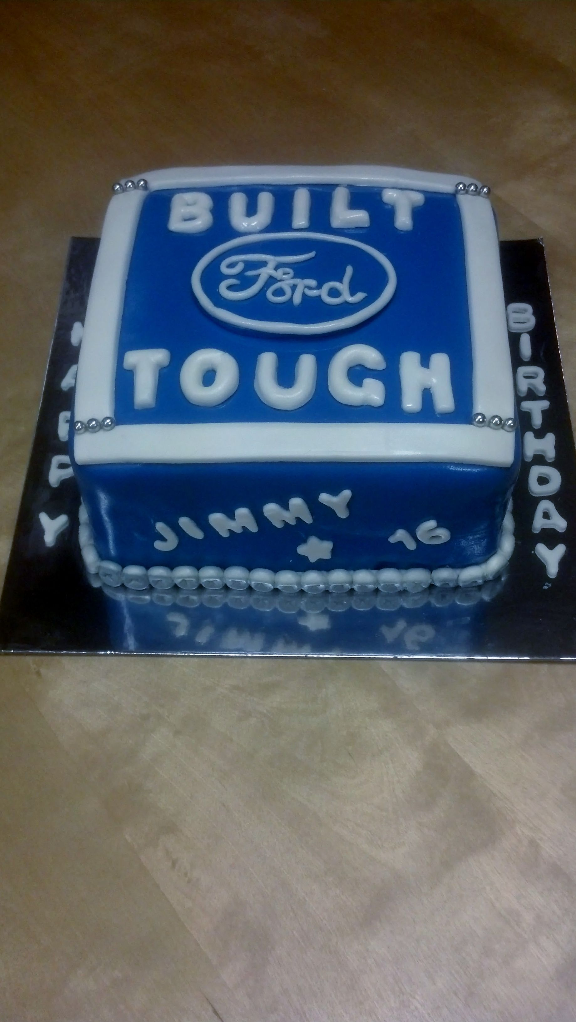 This Ford Theme Birthday Cake Is An 8 Quot 2 Layer With