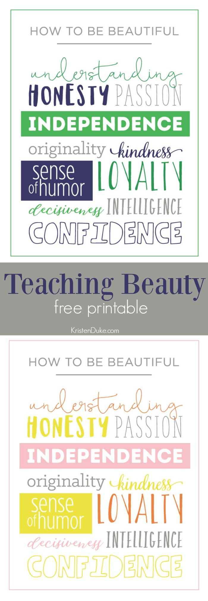 Inner Beauty Quotes Teaching Girls Inner Beauty  Printable Quotes Girls And Free .