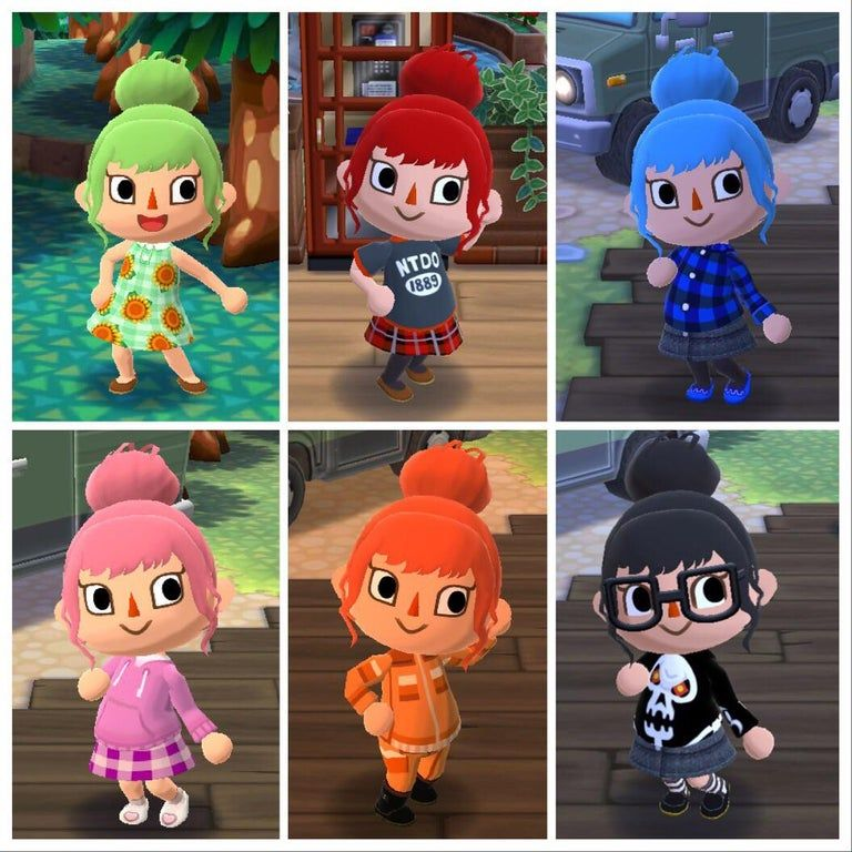 Some Of My Recent Outfits With The New Wig Acpocketcamp