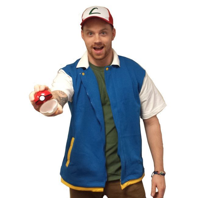 Ash Ketchum Jacket Pokemon Original Coat Costume Shirt Adult High Quality  sc 1 st  Pinterest : pokemon costumes ash  - Germanpascual.Com