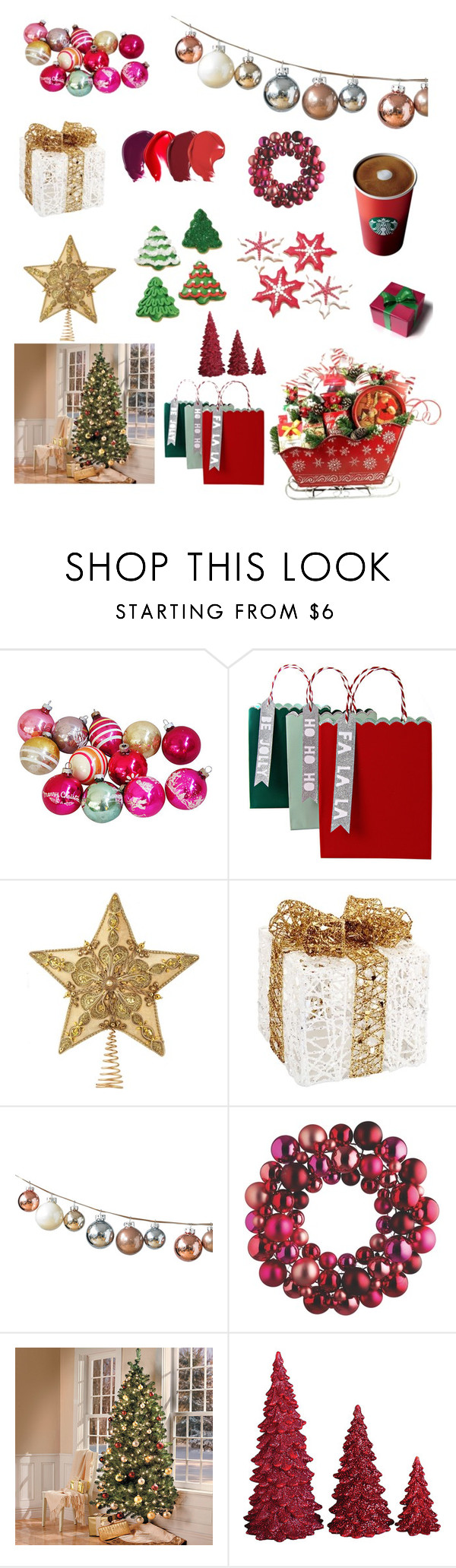 """""""Christmas Spirit"""" by alisa1130 ❤ liked on Polyvore featuring interior, interiors, interior design, home, home decor, interior decorating, Meri Meri, Melrose International, DwellStudio and Dot & Bo"""