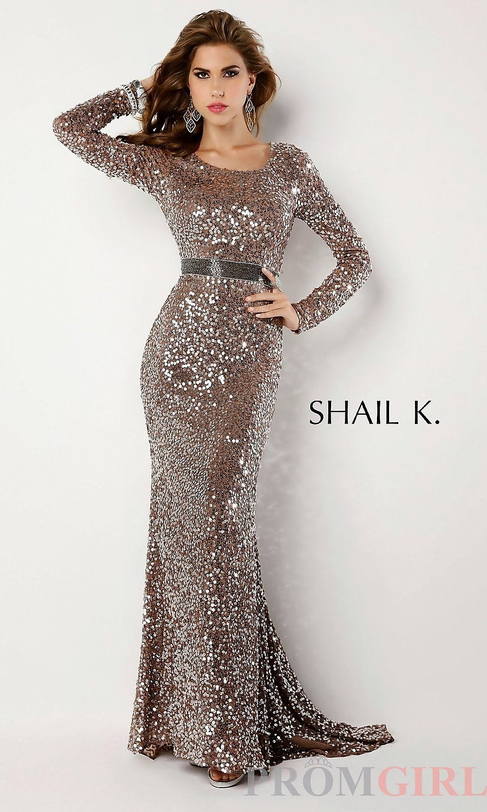 Images of Sequin Dresses Long Sleeve - Reikian
