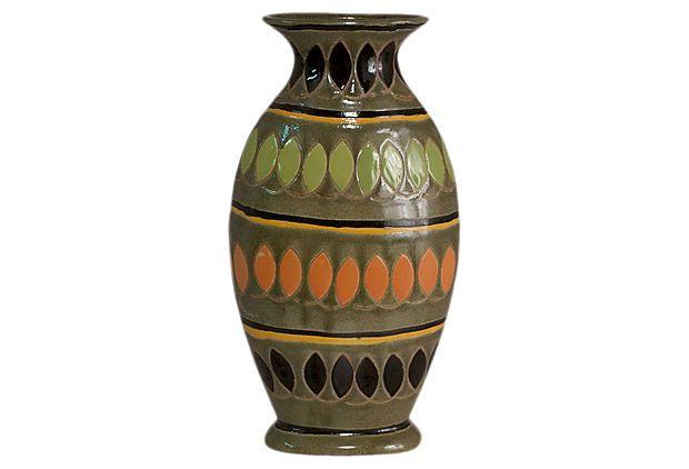 "14"" Tribal Vase"