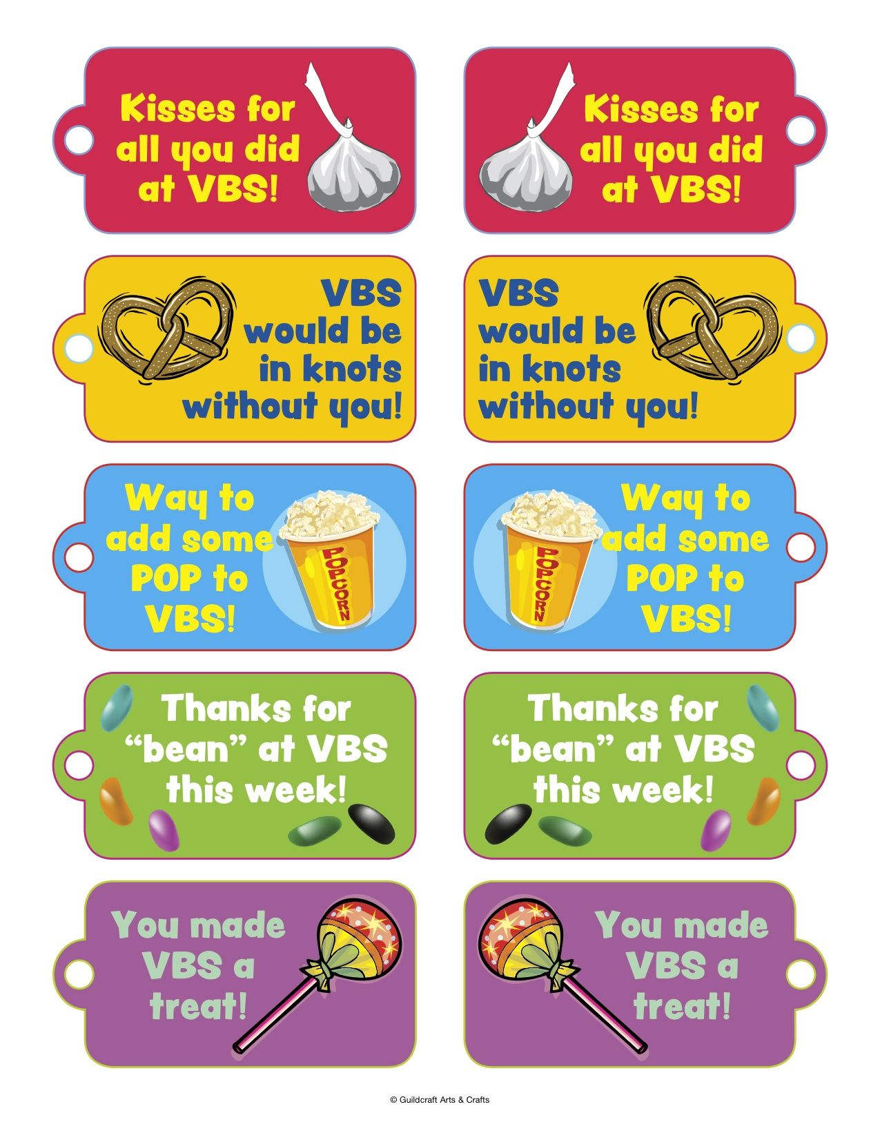 Thanks For Volunteering | VBS Volunteer Thank You Candy/Snack Tags ...