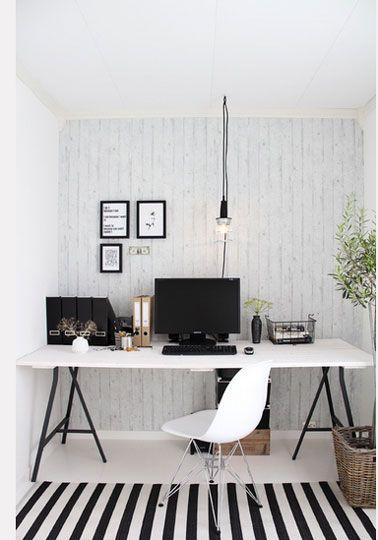 Fabriquer Un Bureau Avec Des Treteaux Et Planche Blanc