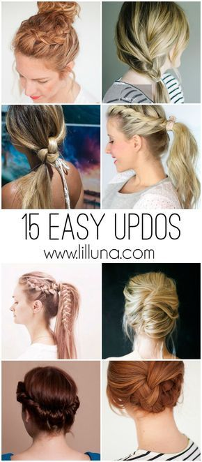 Easy Updos Lazy Day Hairstyles Lazy Hairstyles Easy Updo Hairstyles