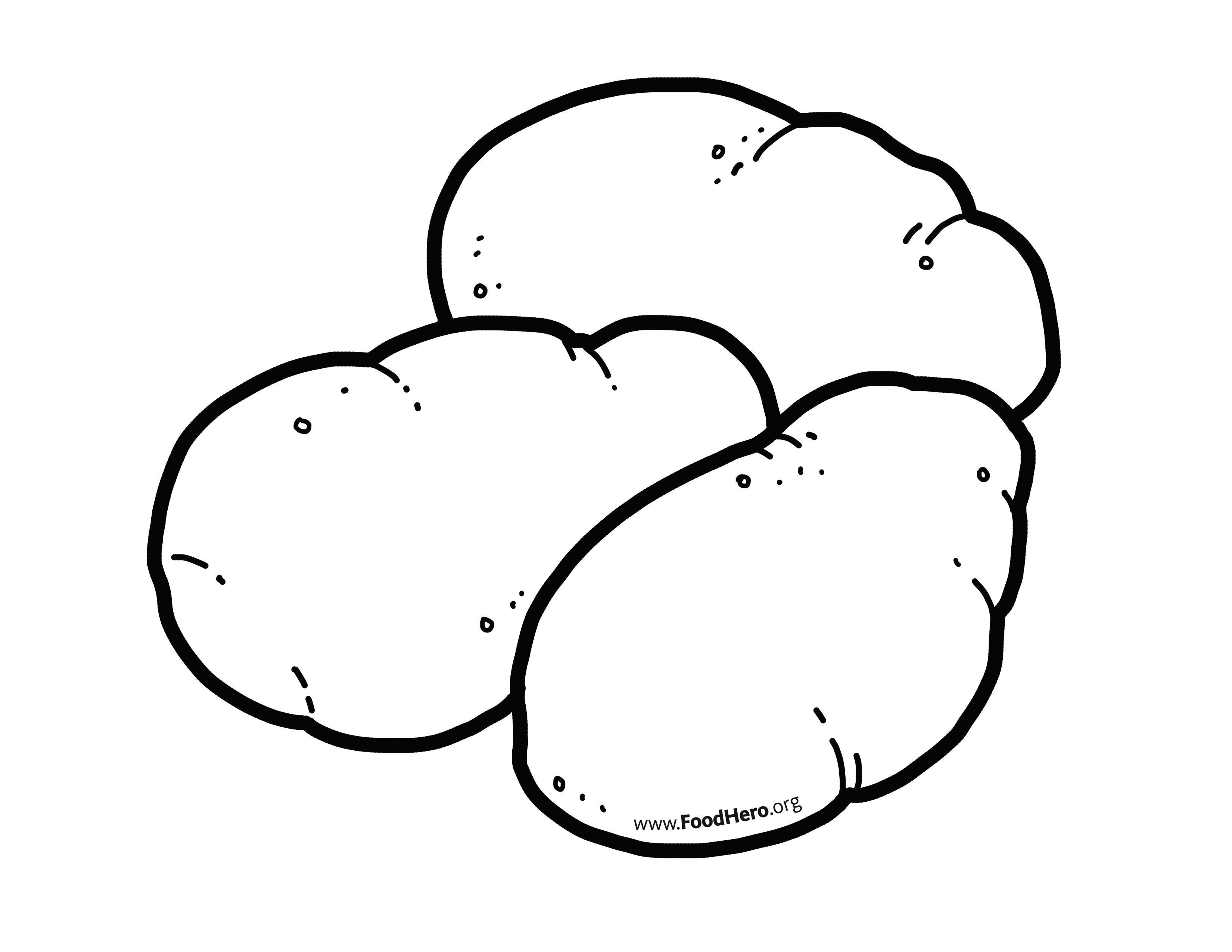Картинки раскраска картофель