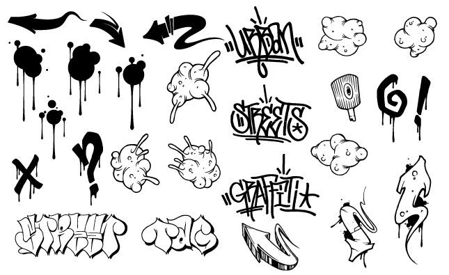 Download Graffiti Vector Pack for Adobe Illustrator
