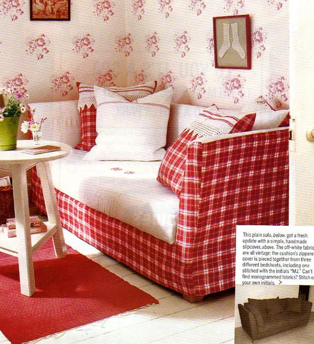 Image Detail For  Country Red Sofa