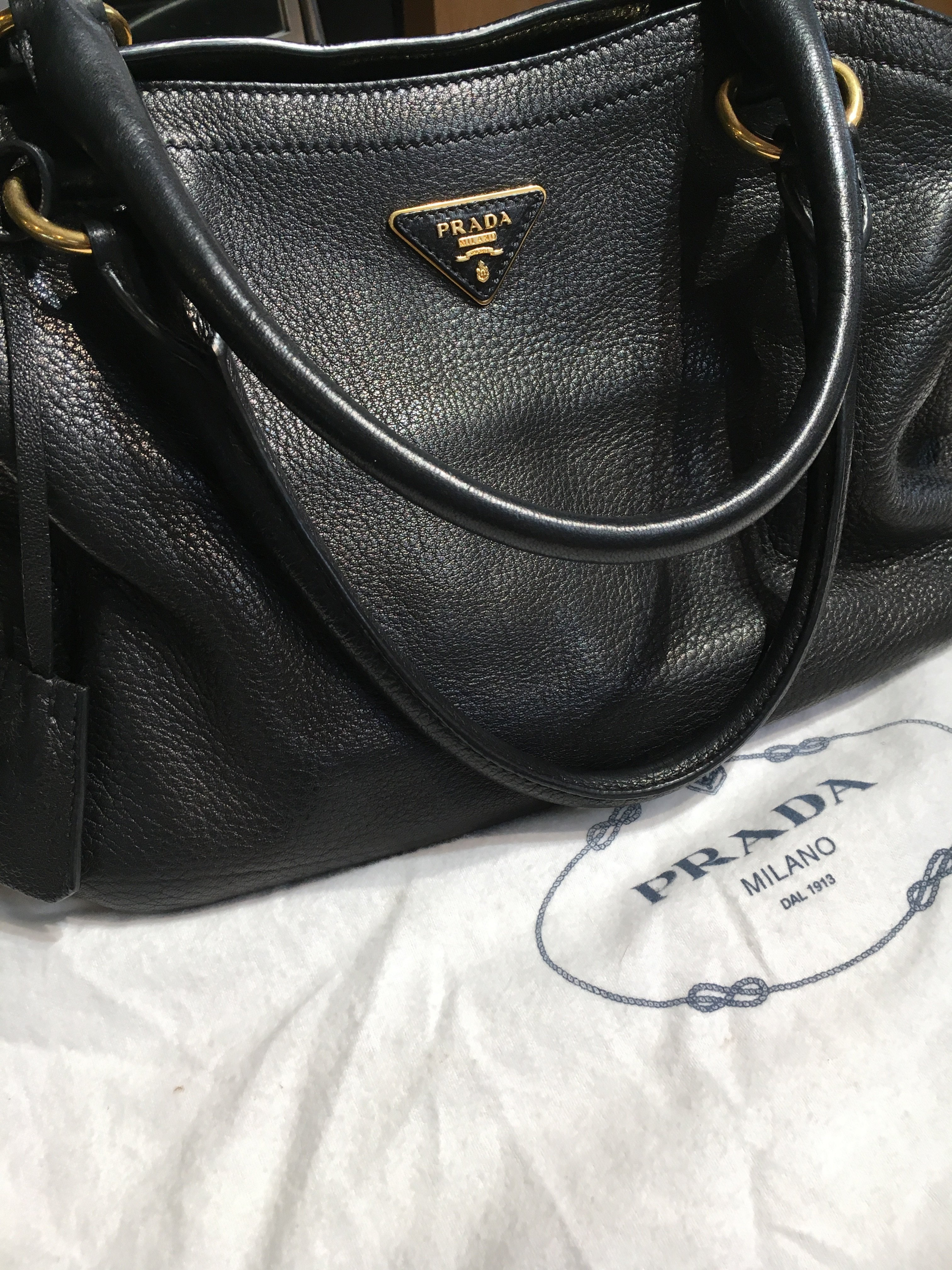 Vintage Deerskin Prada Cervo Nero Tote Bag. Find this Pin and more on  Products by Deleuse Fine Jewelry   Couture. 76b28ba68c027