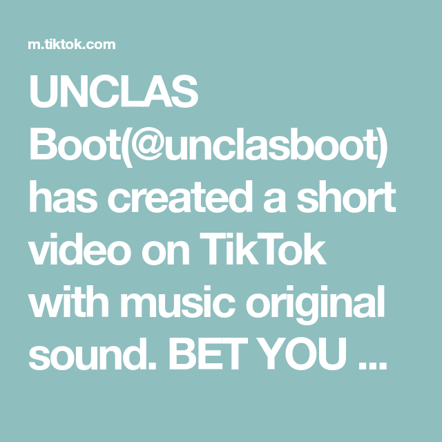 Unclas Boot Unclasboot Has Created A Short Video On Tiktok With Music Original Sound Bet You Won T Copy Link Subs Music Happy Dont Call Me Sea Shanties