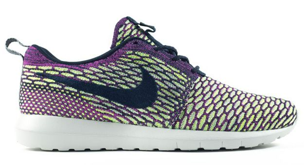 new concept d2713 fc711 Nike Flyknit Roshe Run SPRING 2015, green and purple