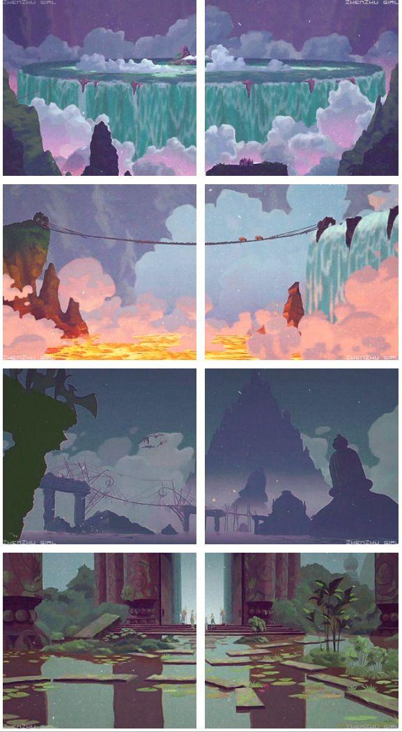 Landscapes From Atlantis Disney Concept Art Disney Animated