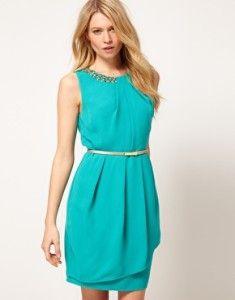 b9ac458e4 Vestidos azul turquesa casuales.