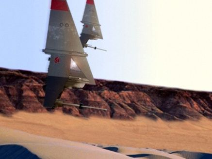 A pair of T-16 skyhoppers.