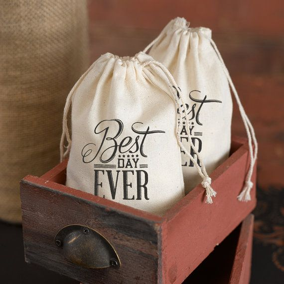 Cotton White Vintage Best Day Ever Love by VintagenRusticDecor, $42.00