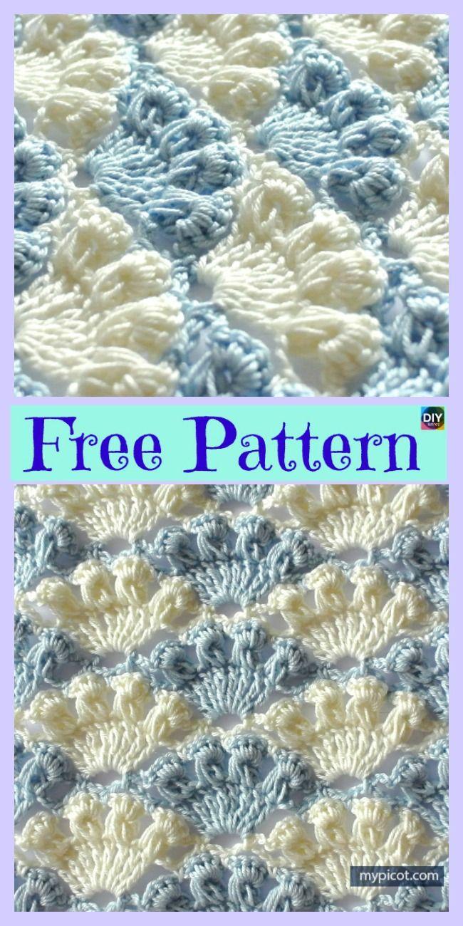 Crochet Shell Stitch Tutorial - Free Pattern | Pinterest ...