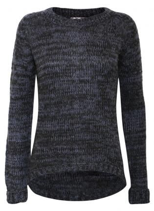 Shaped Hem Knitted Jumper - by Pilot,  Sweater, Shaped Hem Knitted Jumper by Pilot, Casual