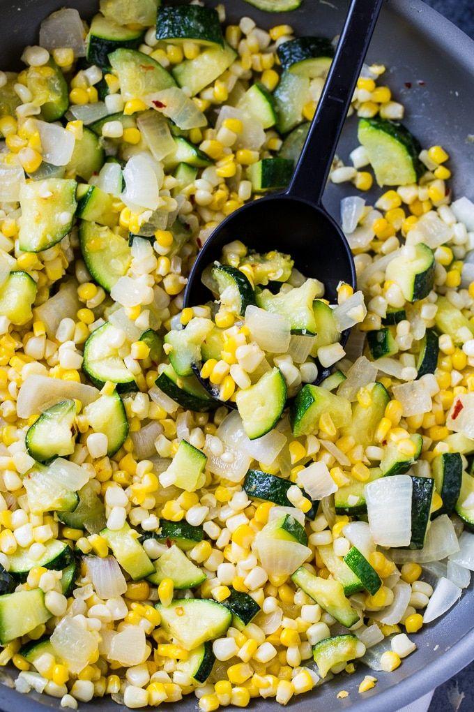 Photo of Fresh Corn and Zucchini Saute – Skinny Southern Recipes