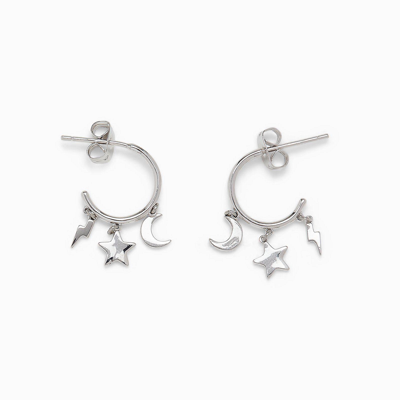 Lightning Bolt Pendant Details about  /White Lightning Sterling Silver Necklace Moonstone Gem