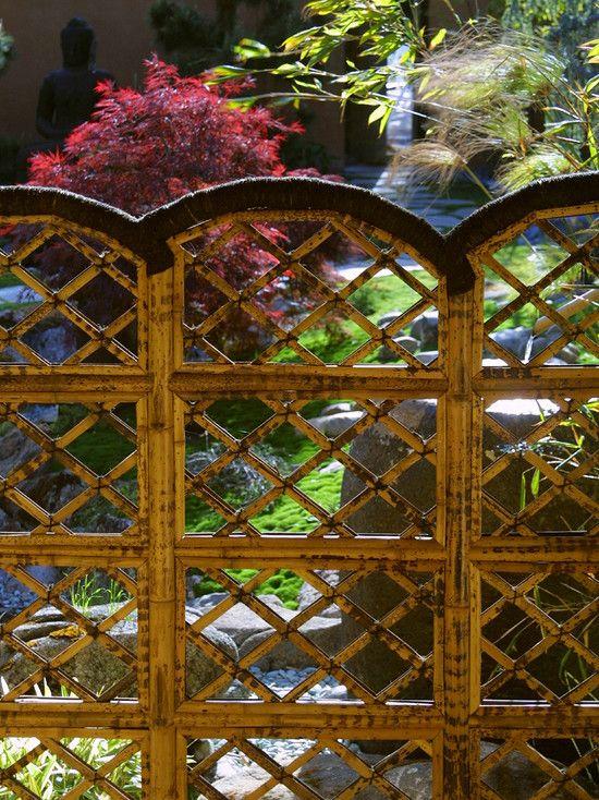 Japanese Style Exterior Design Ideas Bamboo Garden Fence Panels Folding  Frame