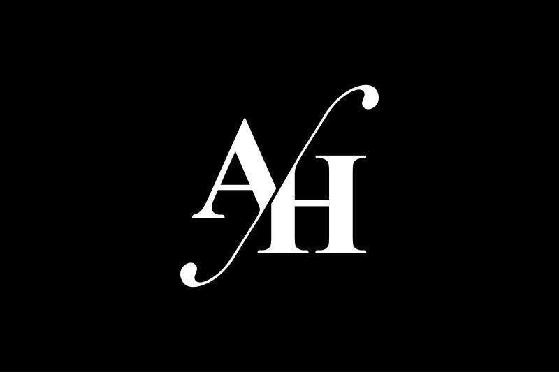 Ah Monogram Logo Design Monogram Logo Design Monogram Logo Graphic Design Logo