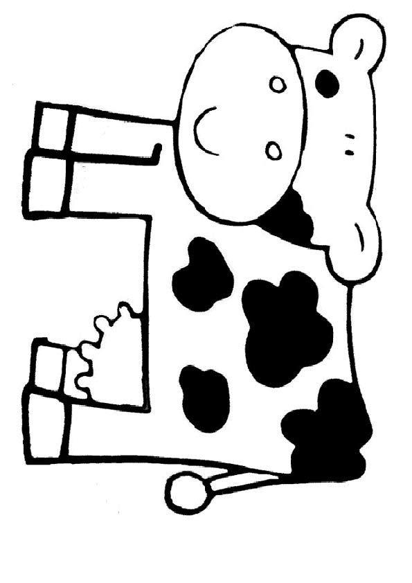 Kuh zum ausdrucken  VorlagenSchablonen  Pinterest  Kuh