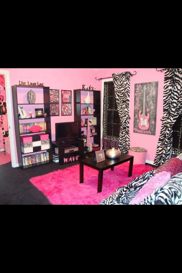 Fashionable Teen Hangout Lounge | Zebra Print Takeover ...