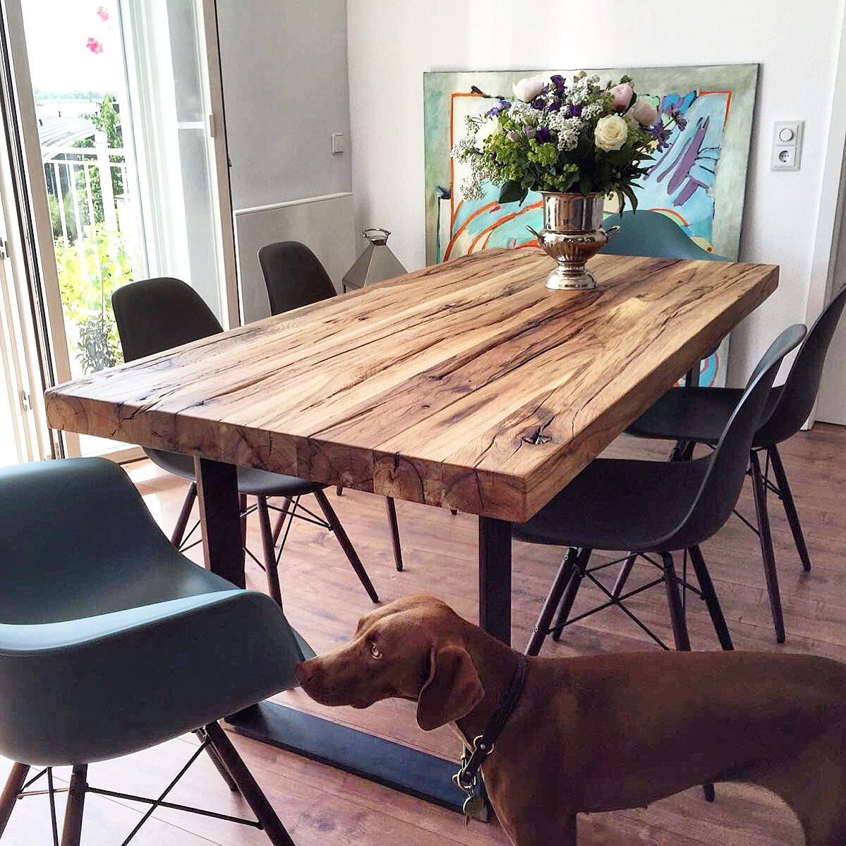 Esstisch Massivholztisch aus Eichenholz Altholz