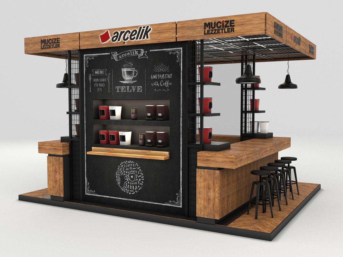 Istanbul Coffee Festival Kiosk Design On Behance Coffee Shop Design Kiosk Design Coffee Shops Interior