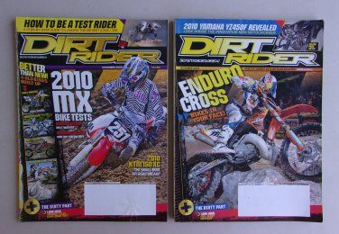 Dirt Rider Magazine Lot Nov Dec 2009 Honda Kawasaki Yamaha MX Enduro  www.treasurefair.ecrater.com