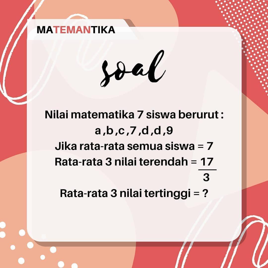 Learn Mathematics Indonesia Matemantika Belajar Matematika Online Instagram Kumpulan Soal Pembahasan Sma Pengenalan Statistika Kel Di 2020 Belajar Matematika Instagram