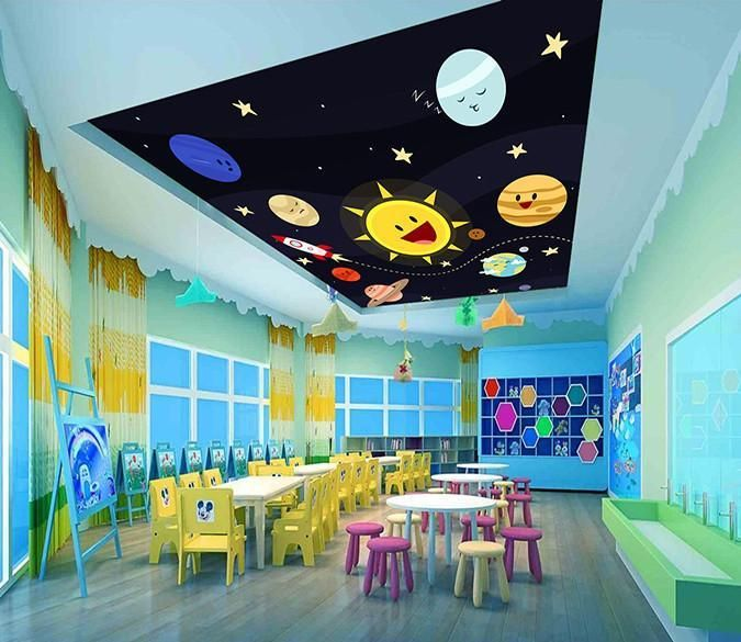 Home Daycare Design Ideas: Space Smiling Planets