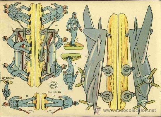 Recortables Collectables: Cut of soldiers Aviacion bombing (Ed.La Tijera, 10 Series Num.15) - Photo 2 - 34257430