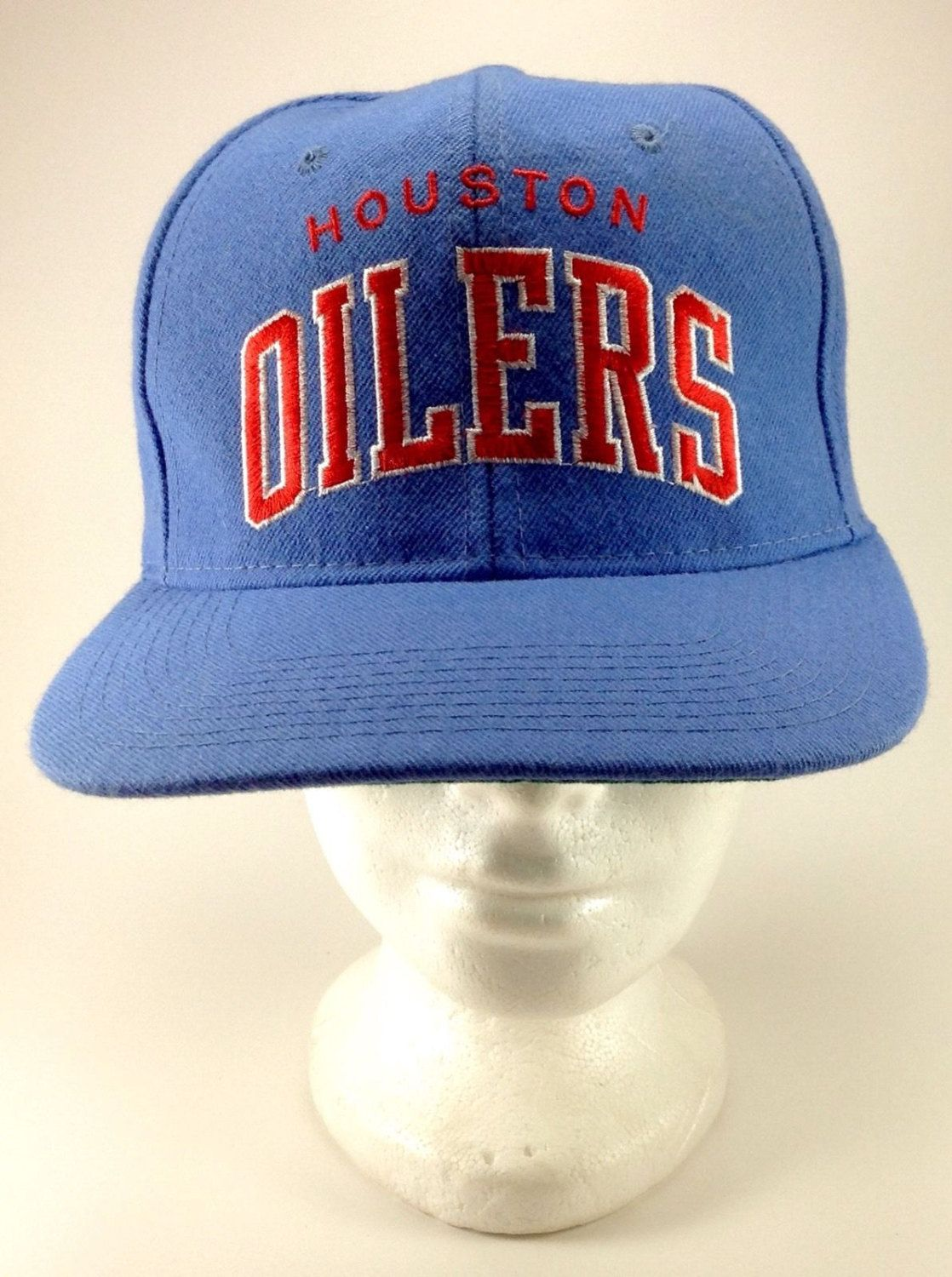 731276ac83e Vintage Snapback Hat Cap Houston Oilers NFL Starter Plain Logo Arched Baby  Blue by Jhollas on Etsy